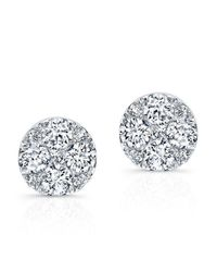 Anne Sisteron | Metallic 14kt White Gold Diamond Stud Earrings | Lyst