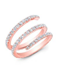 Anne Sisteron | Multicolor 14kt Rose Gold Diamond Spring Ring | Lyst