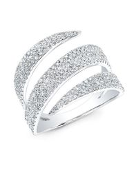 Anne Sisteron | Metallic 14kt White Gold Diamond Bandeau Ring | Lyst