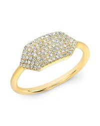 Anne Sisteron | Metallic 14kt Yellow Gold Diamond Buckle Ring | Lyst