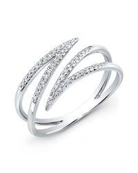 Anne Sisteron | Metallic 14kt White Gold Diamond Spike Wrap Ring | Lyst