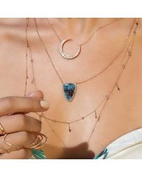 Anne Sisteron - Blue 14kt Rose Gold Paraiba Diamond Necklace - Lyst