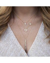 Anne Sisteron - Metallic 14kt Yellow Gold Diamond Triple Bar Drop Necklace - Lyst