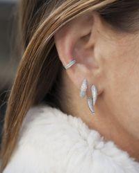 Anne Sisteron - Metallic 14kt White Gold Diamond Sabre Earrings - Lyst