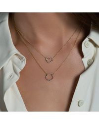 Anne Sisteron - Metallic 14kt White Gold Rainbow Heart Necklace - Lyst