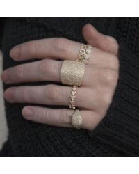 Anne Sisteron - Metallic 14kt Yellow Gold Diamond Triangle Totem Ring - Lyst