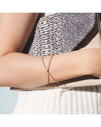 Anne Sisteron - Metallic 14kt Rose Gold Diamond X Cuff - Lyst