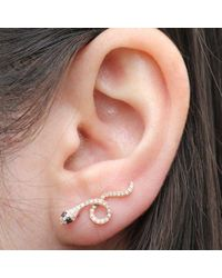 Anne Sisteron - Multicolor 14kt Rose Gold Black Diamond Snake Ear Climber - Lyst