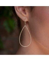 Anne Sisteron - Metallic 14kt Rose Gold Diamond Large Open Pear Earrings - Lyst