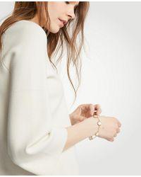 Ann Taylor - Metallic Mother Of Pearl Bracelet - Lyst