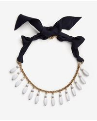 Ann Taylor - Multicolor Matte Beaded Necklace - Lyst