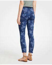 Ann Taylor - White Petite Modern Island Floral Skinny Crop Jeans - Lyst