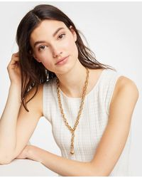 Ann Taylor - Metallic Chain Necklace - Lyst