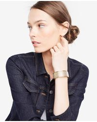 Ann Taylor - Metallic Origami Bangle - Lyst
