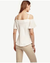 Ann Taylor - White Strappy Off The Shoulder Top - Lyst