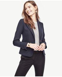 Ann Taylor | Blue Single Button Blazer | Lyst