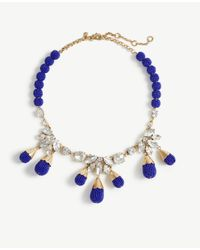 Ann Taylor | Blue Seed Bead Statement Necklace | Lyst