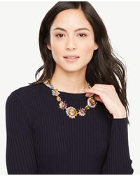 Ann Taylor - Multicolor Spring Crystal Necklace - Lyst