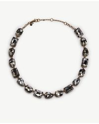 Ann Taylor | Metallic Mixed Crystal Necklace | Lyst