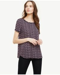 Ann Taylor | Blue Tassel Piped Tee | Lyst