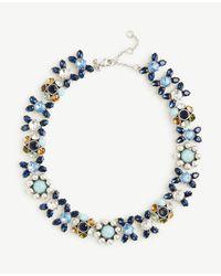 Ann Taylor - Blue Bandana Necklace - Lyst