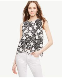 Ann Taylor | White Petite Tulip Lace Shell | Lyst