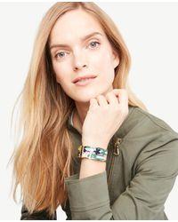 Ann Taylor - Multicolor Geo Floral Cuff Bracelet - Lyst