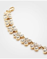 Ann Taylor - Metallic Clover Crystal Statement Necklace - Lyst