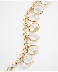 Ann Taylor - Metallic Geometric Crystal Statement Necklace - Lyst