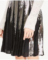 Ann Taylor - Black Petite Sequin Full Skirt - Lyst