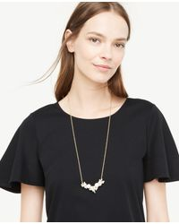 Ann Taylor - Multicolor Beaded Pendant Necklace - Lyst