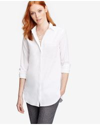 Ann Taylor - White Oversized Shirt - Lyst