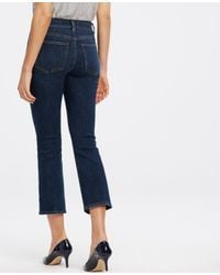 Ann Taylor - Blue Tall Kick Crop Jeans - Lyst