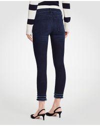 Ann Taylor - Blue Curvy Fringe All Day Skinny Crop Jeans - Lyst