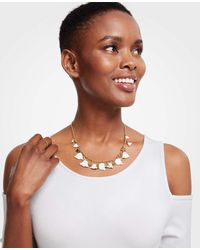 Ann Taylor - White Leaf Necklace - Lyst