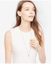 Ann Taylor - Metallic Ball Drop Pendant - Lyst