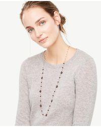 Ann Taylor - Multicolor Flower Burst Delicate Necklace - Lyst