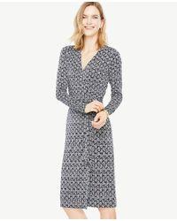 Ann Taylor - Multicolor Tall Vine Wrap Dress - Lyst