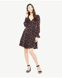 Ann Taylor - Multicolor Bouquet Smocked Cuff Dress - Lyst