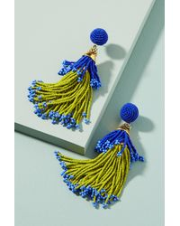 Suzanna Dai | Multicolor Beaded Double Tassel Drop Earrings | Lyst