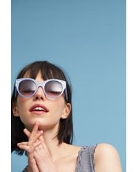 Anthropologie | Purple Callie Sunglasses | Lyst