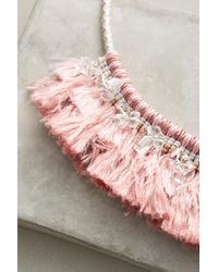 Anthropologie - Pink Acalia Fringed Collar Necklace - Lyst