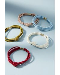 Anthropologie   Blue Knotted Hair Tie Set   Lyst