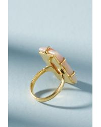 Anthropologie - Pink Louise Cocktail Ring - Lyst