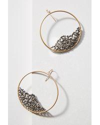 Anthropologie - Metallic Mila Hoop Earrings - Lyst