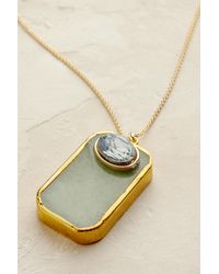 Anthropologie - Green Aventino Pendant Necklace - Lyst