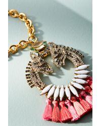 Elizabeth Cole | Pink Dannia Tassel Necklace | Lyst