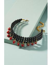 Venessa Arizaga   Black Strawberry Charm Choker Necklace   Lyst