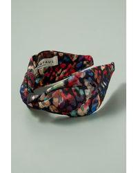 Anthropologie - Multicolor Metallic Floral Lurex Headband - Lyst
