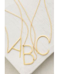 Anthropologie | Metallic Monogram Pendant Necklace | Lyst